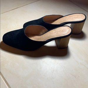 Madewell Miya Mules Size 5.5 Black Suede